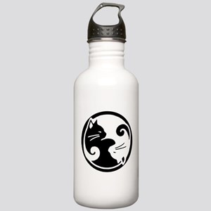 Yin Yang Cats: 1 Liter Stainless Water Bottle